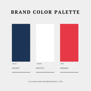 Brand color palette example