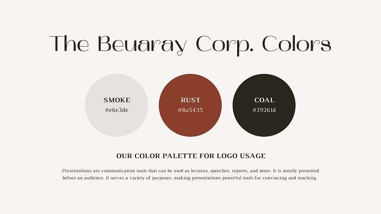 This is an example of a brand color palette.