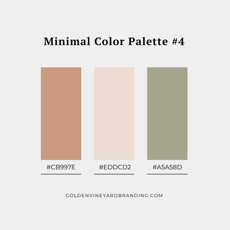 A minimalist color palette with soft neutral tones.