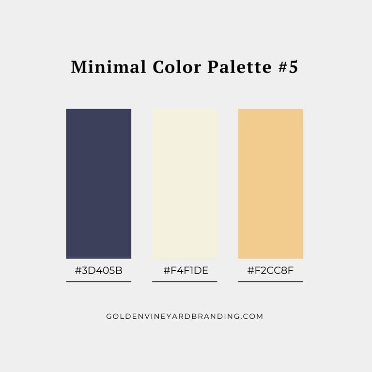 A minimalist color palette with yellow and blue.