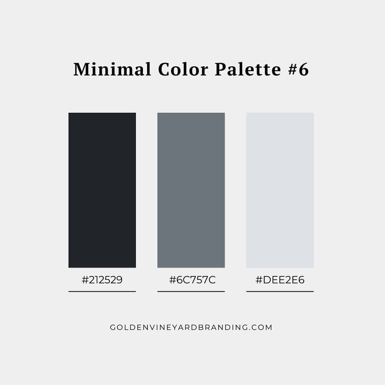 A minimalist color palette with cool greys.