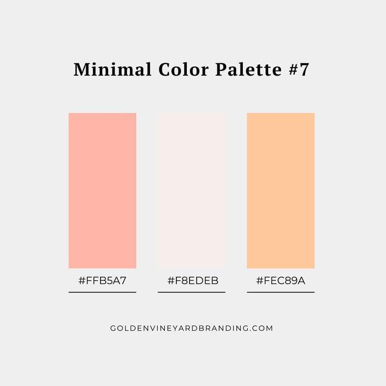 A minimalist color palette with shades of peach.