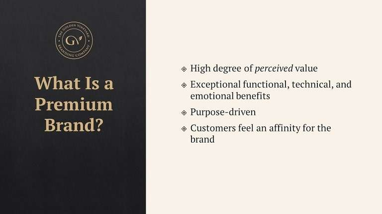 Summary of benefits offered by premium brands