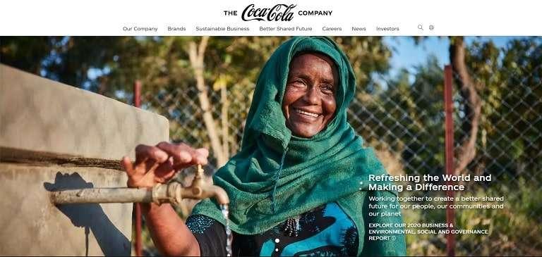 Coke brand imagery