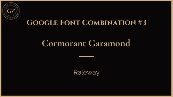 Cormorant garamond raleway