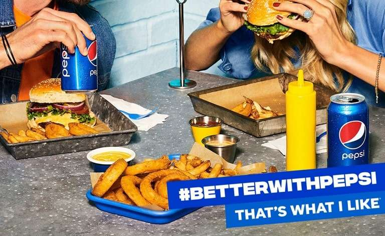 Pepsi brand imagery