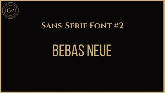 Best business font 5 bebas neue